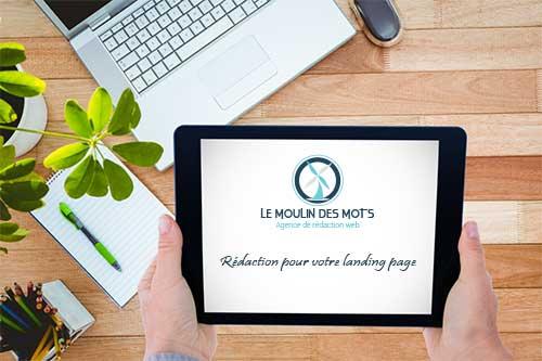 landing page avec du contenu web de qualité
