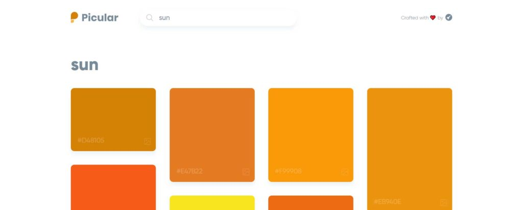 Picular, outil Google de recherche de couleurs